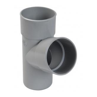 Трійник 67° Nicoll 25 ПРЕМІУМ 80 мм сірий