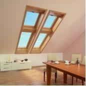 Мансардное окно Roto Designo R75 KG WD 65х140 см золотой дуб