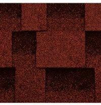 Бітумна черепиця Kerabit L Квадро червоно-чорний