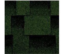 Битумная черепица Kerabit L Квадро зелено-черный