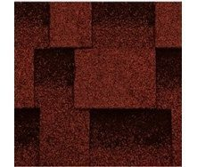 Битумная черепица Kerabit L Квадро красно-черный