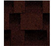 Битумная черепица Kerabit L Квадро коричнево-черная