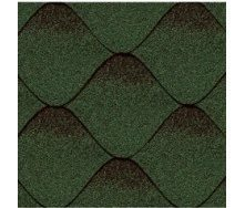 Битумная черепица Kerabit S Волна зелено-черная