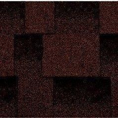 Бітумна черепиця Kerabit L Квадро коричнево-чорна