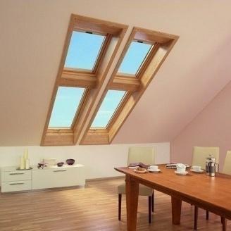 Мансардное окно Roto Designo R75 KG WD 65*118 см золотой дуб