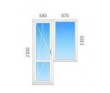 Балконный блок REHAU-60 с однокамерным энергосберегающим стеклопакетом