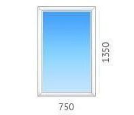 Окно глухое OPENTECK с однокамерным энергосберегающим стеклопакетом