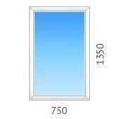 Окно глухое OPENTECK с двухкамерным стеклопакетом 750х1350 мм