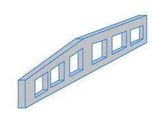 Балка двускатная 1БДР12 решетчатая серия 1.462.1-3.80 в.1