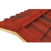 Конек модельный сборный финишный Onduvilla 1060x164 мм красный 3D
