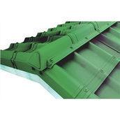 Конек модельный сборный финишный Onduvilla 1060x164 мм зеленый 3D