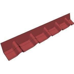 Покрівельній фартук Onduvilla 1020х140 мм червоний 3D