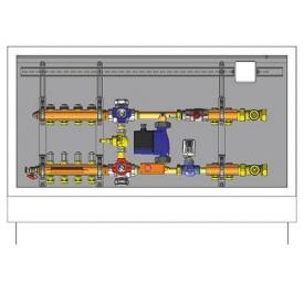 Шкаф управления для систем напольного отопления HERZ 4 отвода (3F53124)