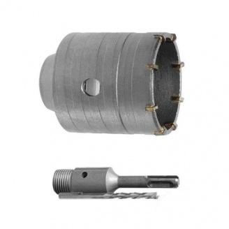 Сверло корончатое по бетону Intertool 80 мм с переходником (SD-7080)