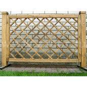 Деревянный забор с обрешеткой секций ДО-1