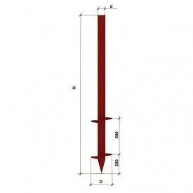 Паля гвинтова дволопатева 76х2000 мм