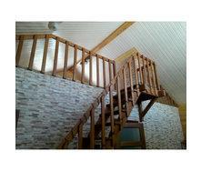 Лестница деревянная прямая