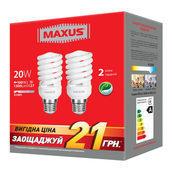 Комплект энергосберегающих ламп MAXUS 2-ESL-230-P XPiral 20W 4100K E27