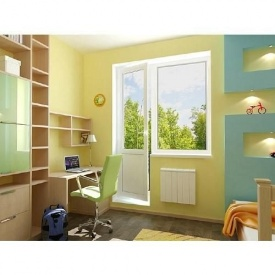 Металопластиковая балконная дверь REHAU с двухкамерным стеклопакетом