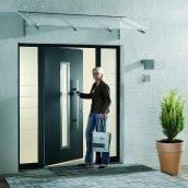 Боковой элемент двери Hormann ThermoPlus 2016 400х2100 мм Dark Oak