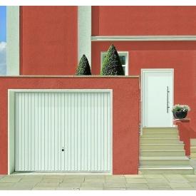 Щитовые ворота Hormann Berry Pearl вертикальный гофр 2500x2000 мм RAL 8028 коричневый