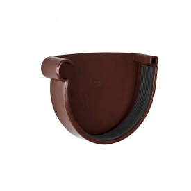 Заглушка ринви ліва Rainway 90 мм коричнева