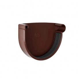 Заглушка желоба правая Rainway 130 мм коричневая