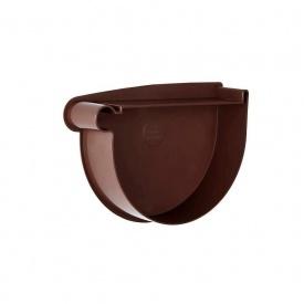Заглушка воронки левая Rainway 90 мм коричневая