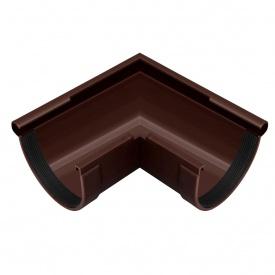 Угол желоба наружный Rainway 90 градусов 130 мм коричневый