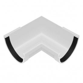 Кут жолоба внутрішній Rainway 90 градусів 90 мм білий