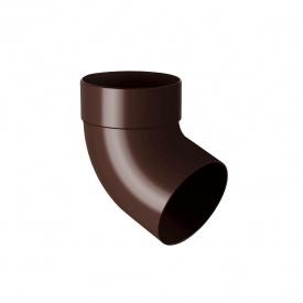 Відведення одномуфтове Rainway 67 градусів 75 мм коричневе