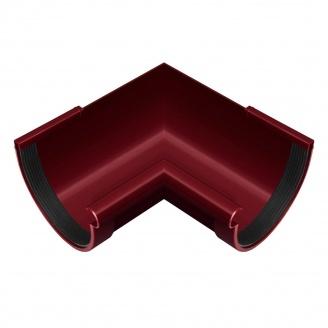 Угол желоба внутренний Rainway 90 градусов 90 мм красный