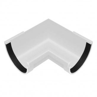 Угол желоба внутренний Rainway 90 градусов 90 мм белый
