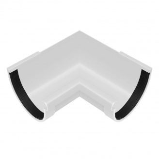 Угол желоба внутренний Rainway 90 градусов 130 мм белый