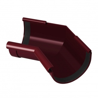 Угол желоба внутренний Rainway 135 градусов 130 мм красный