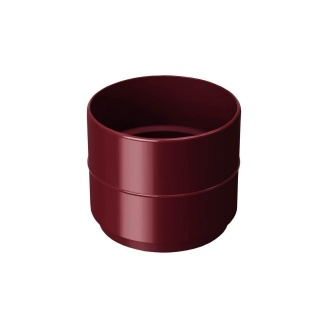 Муфта водосточной трубы Rainway 75 мм красная