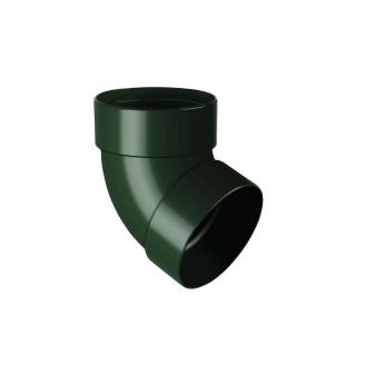 Отвод двухмуфтовый Rainway 67 градусов 75 мм зеленый