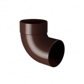 Відведення одномуфтове Rainway 87 градусів 100 мм коричневе
