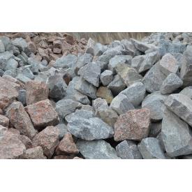 Бутовый камень калиброванный серый с розовыми прожилками