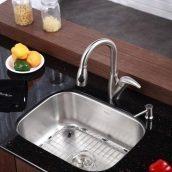 Комплект кухонный Kraus KBU12-KPF2121-SD20 умывальник+смеситель