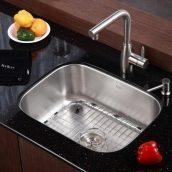 Комплект кухонный Kraus KBU12-KPF2140-SD20 умывальник+смеситель