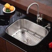 Комплект кухонный Kraus KBU12-KPF2160-SD20 умывальник+смеситель