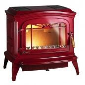 Чугунная печь INVICTA BRADFORD 12 кВт эмалированная красная