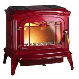 Чавунна піч INVICTA BRADFORD 12 кВт емальована червона