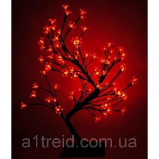 Светодиодное дерево Бонсай Цветущая сакура 45 см красное