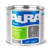 Эмаль Aura ПФ-115 А 2,8 кг коричневый