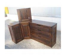 Кухня деревянная 42 мм Тик