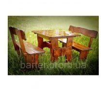 Стол деревянный для дачи и сада 2200*800