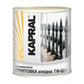Антикоррозионная алкидная грунтовка Kapral ГФ-021 2,8 кг красно-коричневая