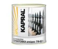 Антикоррозионная алкидная грунтовка Kapral ГФ-021 0,9 кг серая